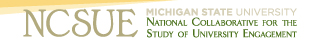 National Collaborative for the Study of University Engagement Logo